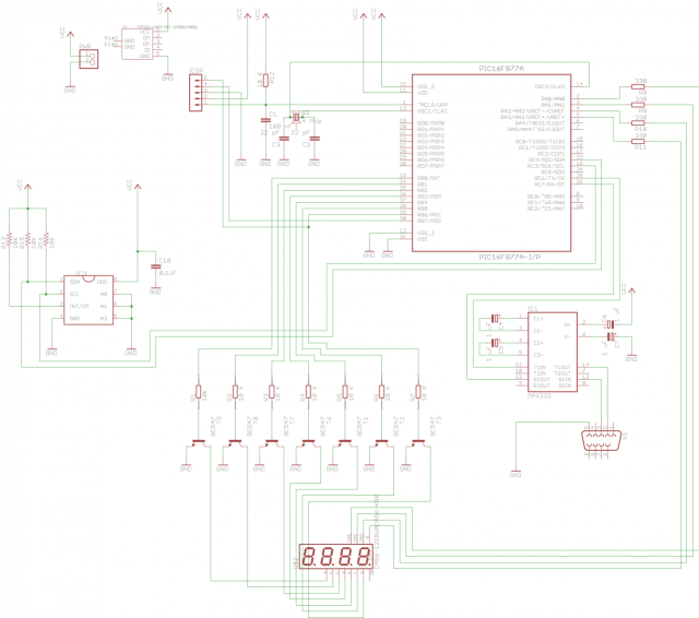 The schematic for the TCN75 version