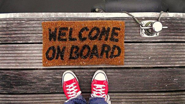 Willkommen in unserem Team! Die Botschaft ist für den neuen Mitarbeiter extrem wichtig.