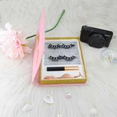 Glitter paper lashes boxes
