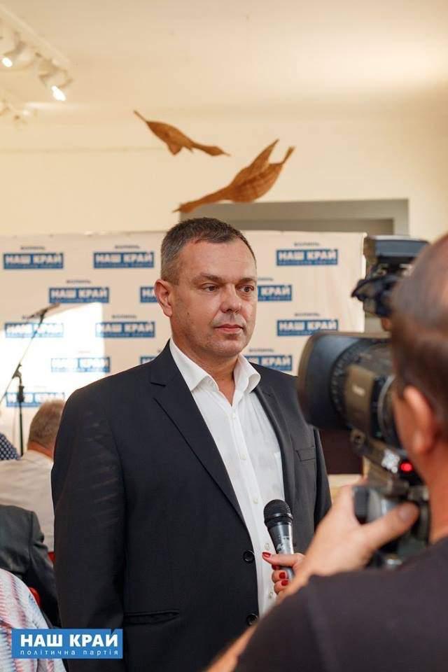 Олег Борбелюк. Фото із facebook-сторінки партії «Наш край»