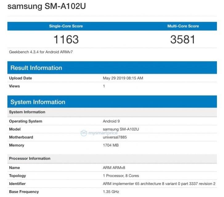 Samsung Galaxy A10e0