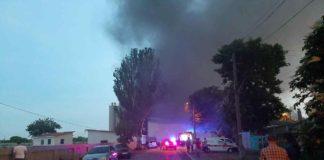 В Одессе произошел масштабный пожар. Видео