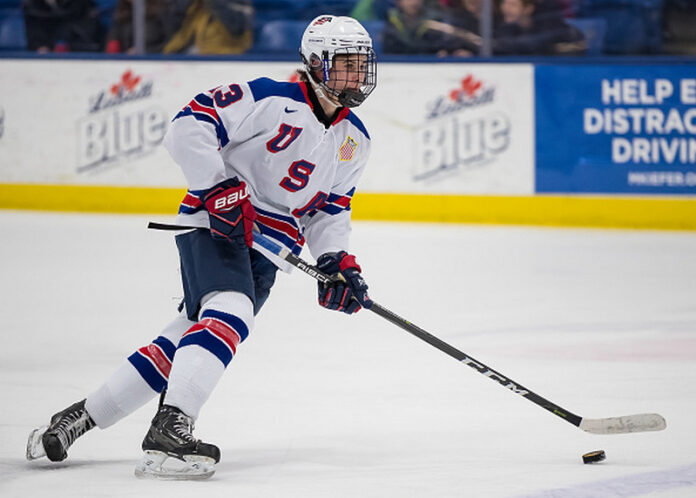 American Hughes Selected In The Nhl Draft At The First Number