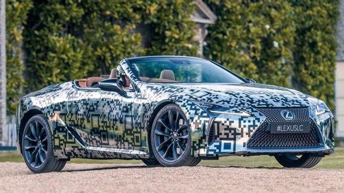 Lexus LC Convertible prototype debuts at Goodwood Festival of Speed