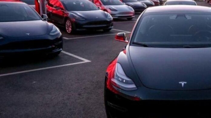 In Germany, refused to buy dozens of scratched Tesla