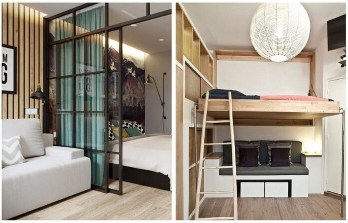 Original ways to arrange bedroom in a small apartment. Photo ...