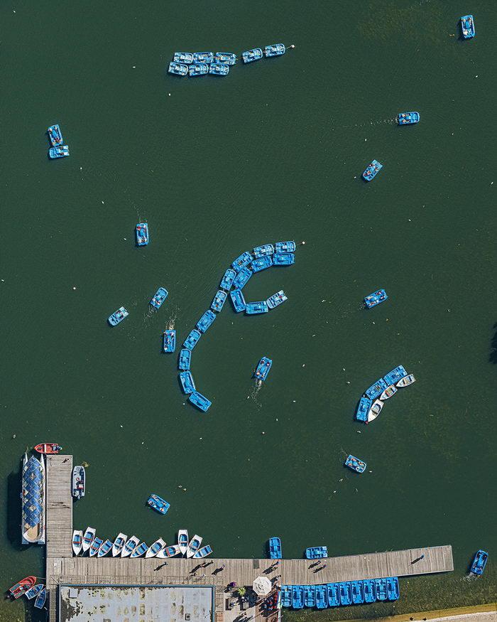Как выглядит Лондон с высоты птичьего полета. Фото