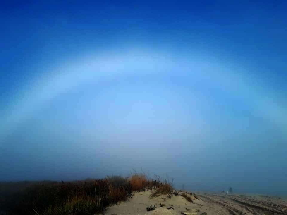 На побережье Азовского моря засняли необычное явление. Фото