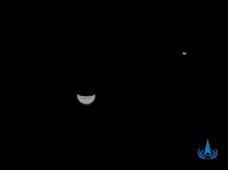 Землю и Луну удалось снять на одном фото
