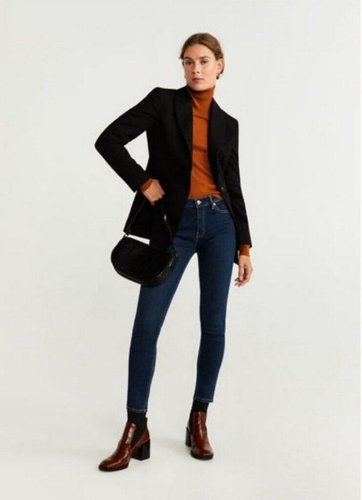 Стилисты рассказали, какие джинсы визуально удлиняют ноги. Фото -