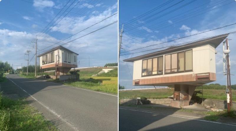 В Японии отыскали уникальное здание, нарушающее законы физики. Фото