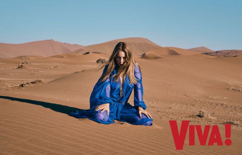 Тина Кароль устроила фотосессию в пустыни ради модного глянца