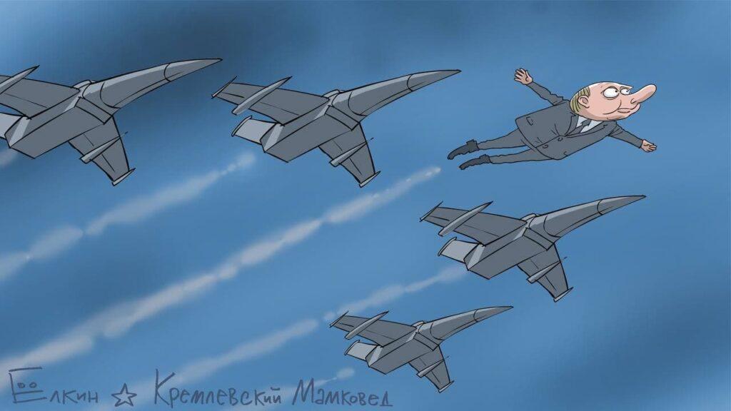 Путина на параде в Москве высмеяли новой карикатурой