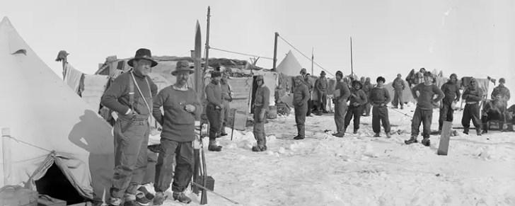 Ernest Shackleton at Ocean Camp in 1915
