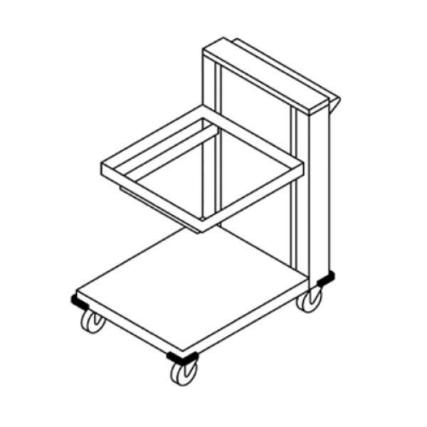 Rack Dispenser, cantilever style, mobile design, lifting
