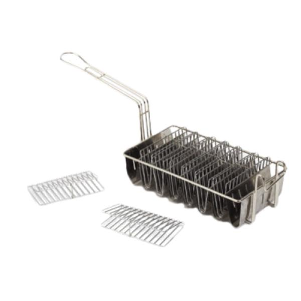 Royal ROY 23 Taco Shell Fry Basket, 8 compartments, plated