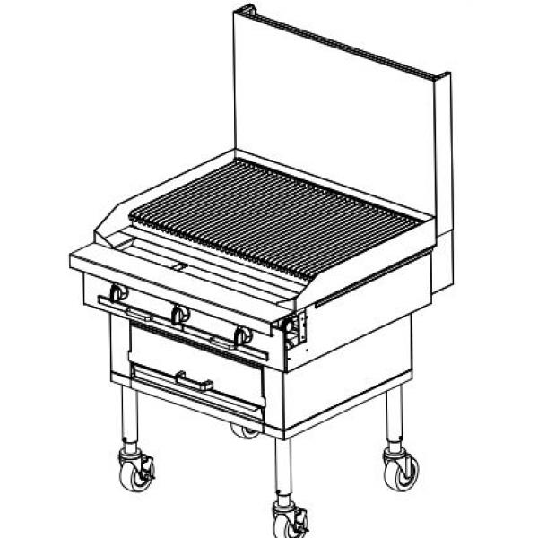 Southbend P72W-CCCCCC Platinum Wood Smoker Charbroiler