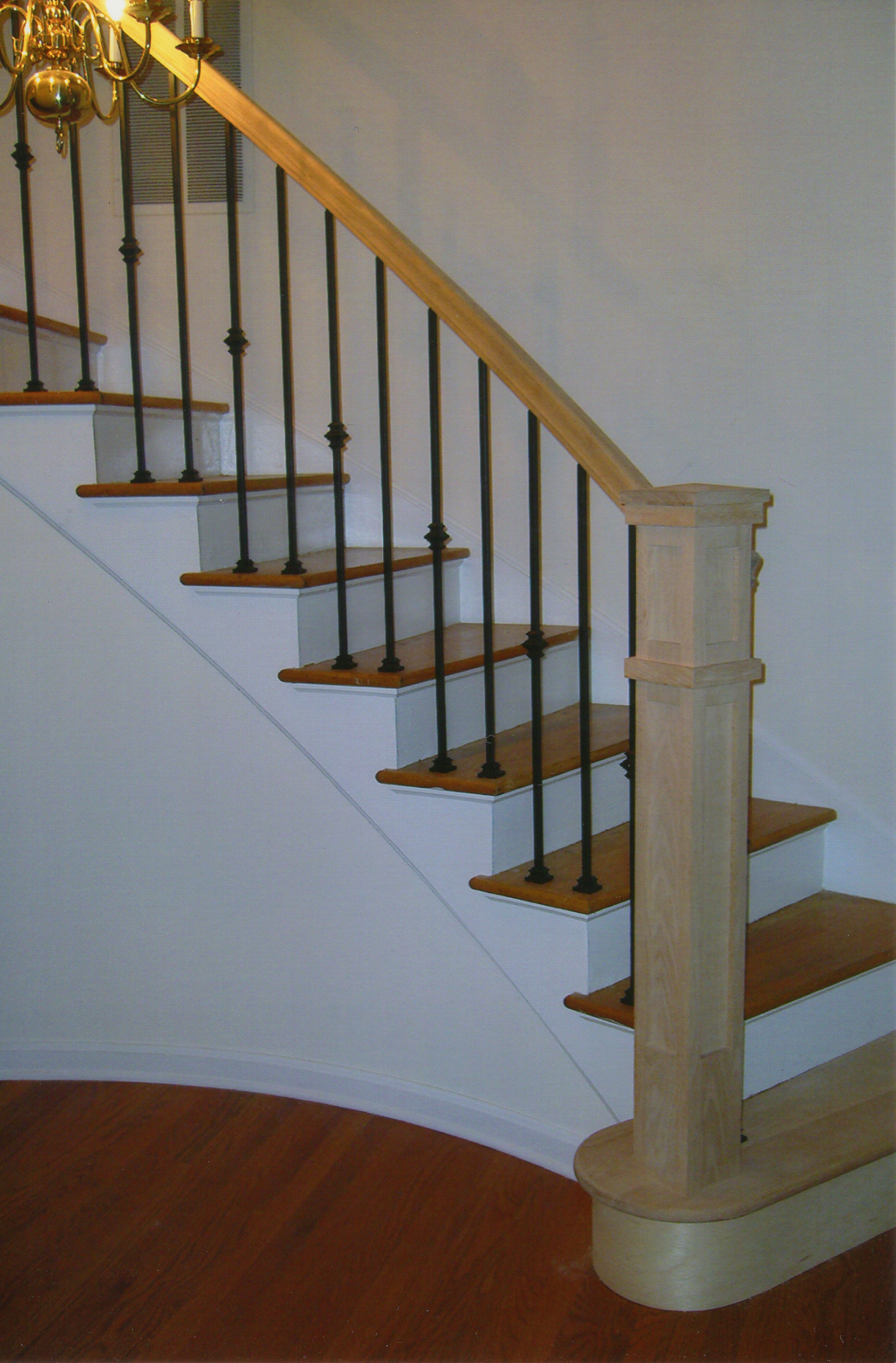 H R Stairs Railings Portfolio View Our Work | Modern Newel Post Designs | Contemporary | Maple | Staircase Spindle | Modern Box | Hollow
