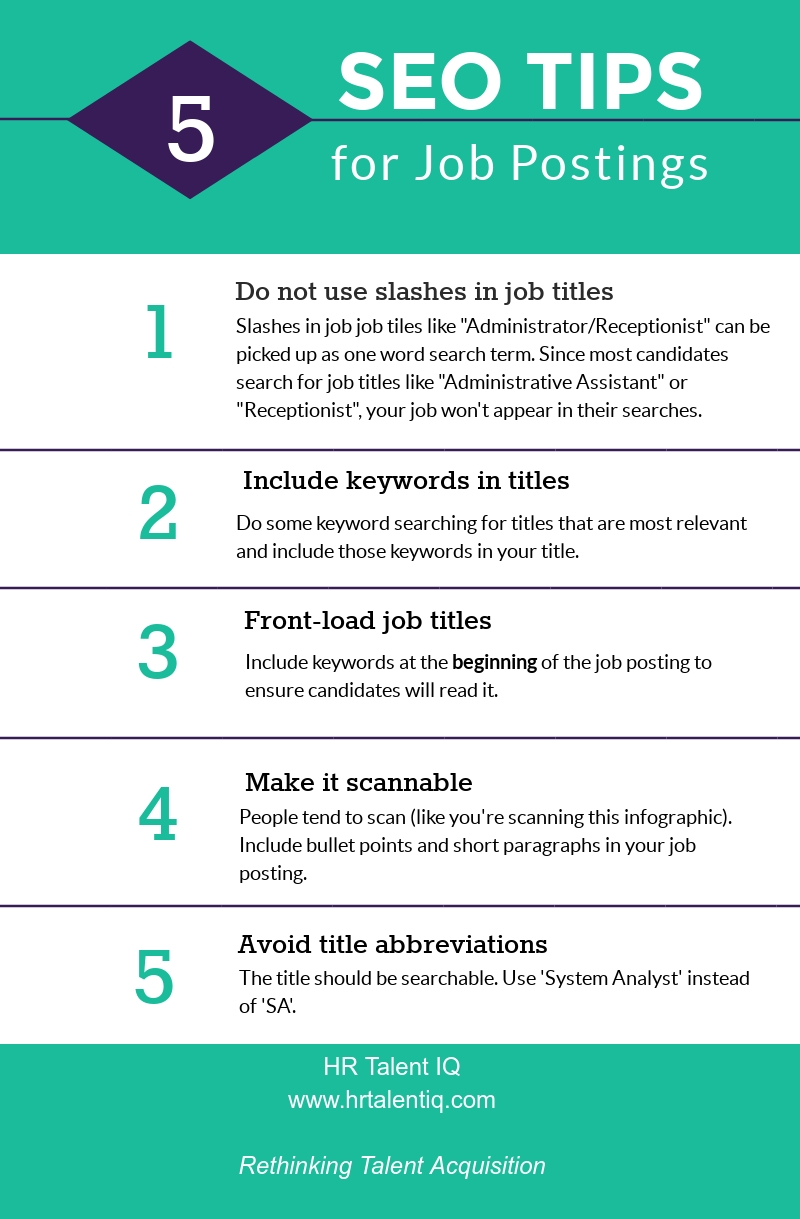 SEO tips for job postings