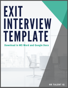 Exit Interview Template - Instant Download