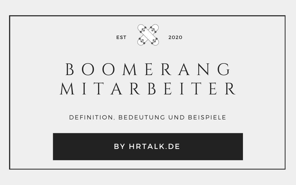 Boomerang Mitarbeiter