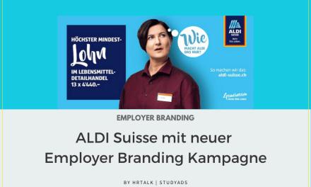 Neue Employer Branding Kampagne von Aldi Suisse 2021