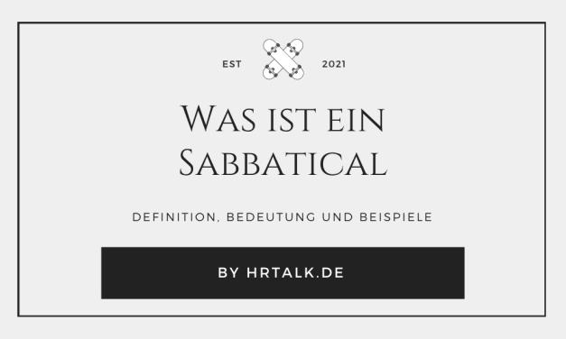Was ist ein Sabbatical?