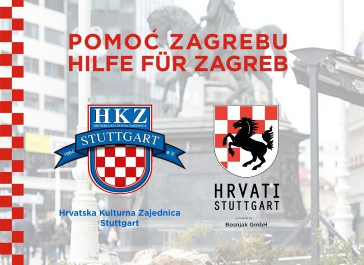 Humanitarna akcija Pomoć Zagrebu / Hilfe für Zagreb