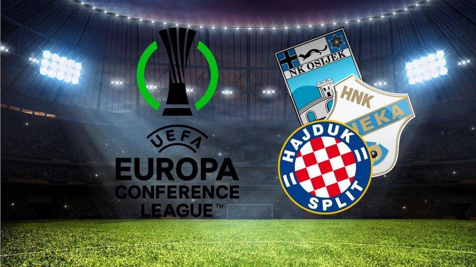 Hajduk, Osijek i Rijeka započinju svoj europski put