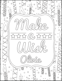 Personalized Happy Birthday Coloring Book  H.R. Wallace ...