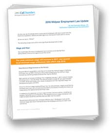 Midyear Employment Law Update White Paper