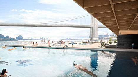 An illustration of a Pool project planned for New York.