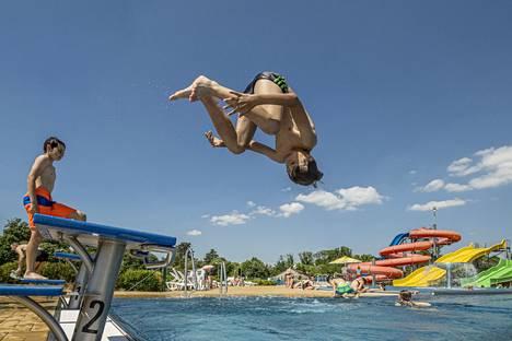 Summer heat was enjoyed in Turnov, Czech Republic on Thursday.