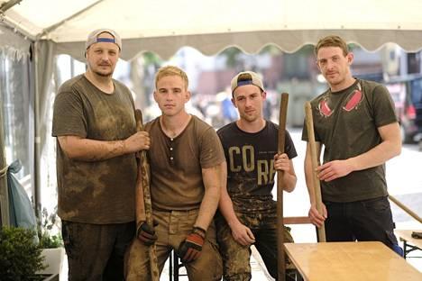Sebastian Gebauer, 33, Jan Röllgen, 24, Sven Schnichels, 25 and Alex Moesch, 25.