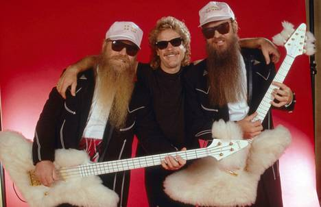 Billy Gibbons, Frank Beard and Dusty Hill in Munich, Germany in 1986.