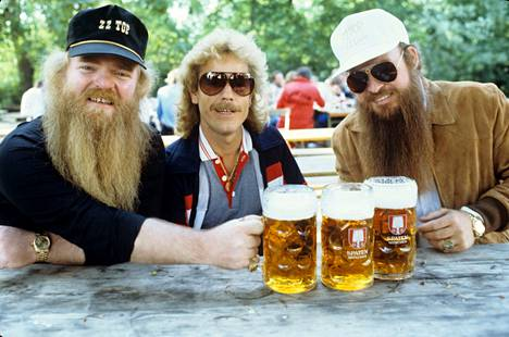 Dusty Hill, Frank Beard and Billy Gibbons in Dortmund, Germany in 1982.