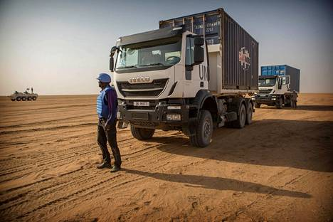 The UN Minusma operation has been underway in Mali since 2013. The transport team will deliver the goods to the base.  Photo of Malin Kidal from February 2017.