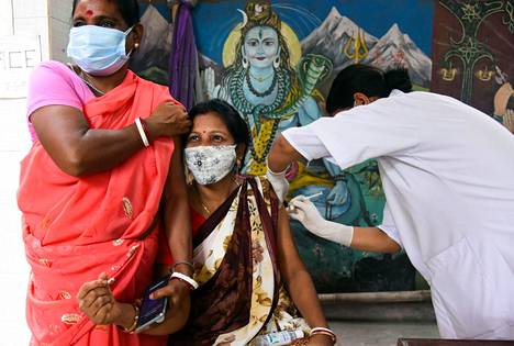 The young woman received the vaccine in July in Guwahati, India.