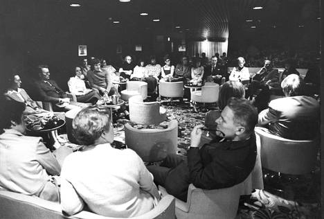 The ships have long attended seminars and meetings.  This was also done in 1973.