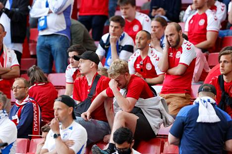 Concerns about Eriksen's fate were shared by Danish and Finnish supporters.