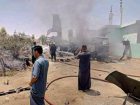 Fourteen missiles were fired on July 7 at a U.S. air base in Anbar, western Iraq.