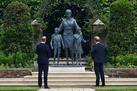 Princes William and Harry were present at the unveiling of the statue.