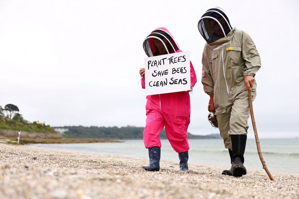 Protesters worried about climate change are demanding planting trees, rescuing bees and clearing the seas.