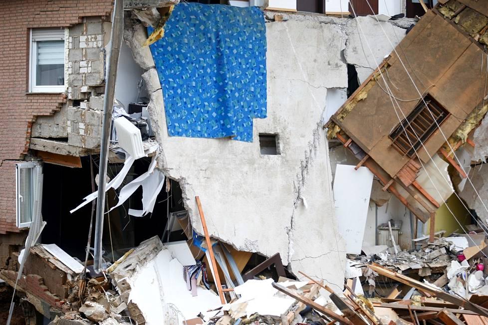 Destroyed building in Erftstadt, Germany.