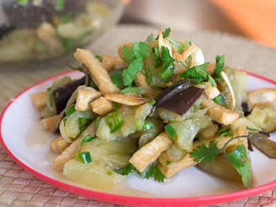 tofu and eggplant salad