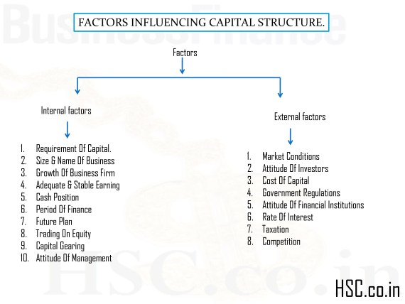 FACTORS INFLUENCING CAPITAL STRUCTURE