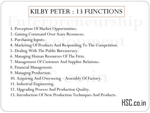 KILBY PETER : 13 FUNCTIONS