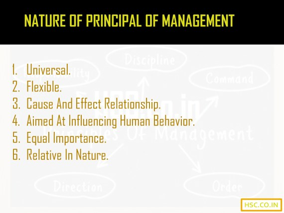 Nature of principal management