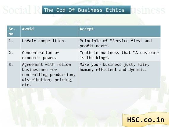 business of ethics avoid and accept