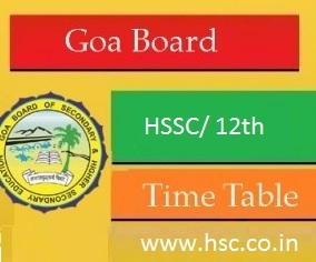 goa hssc board date sheet 2017